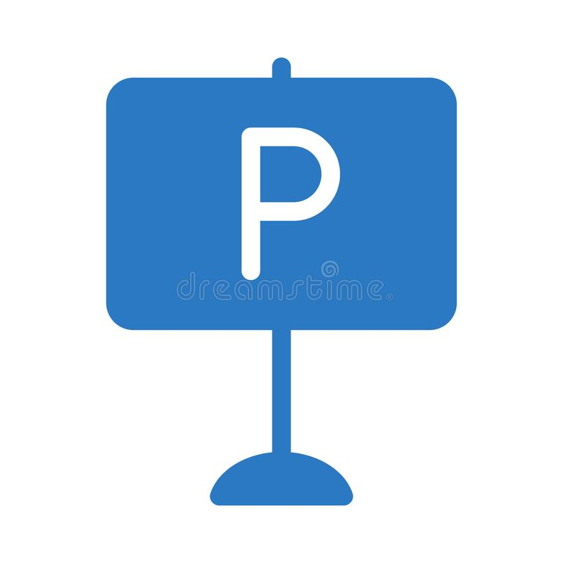 Parking board glyph color flat vector icon. Parking board vector icon. Elements for mobile concept and web apps. Thin line icons for website design and royalty free stock images