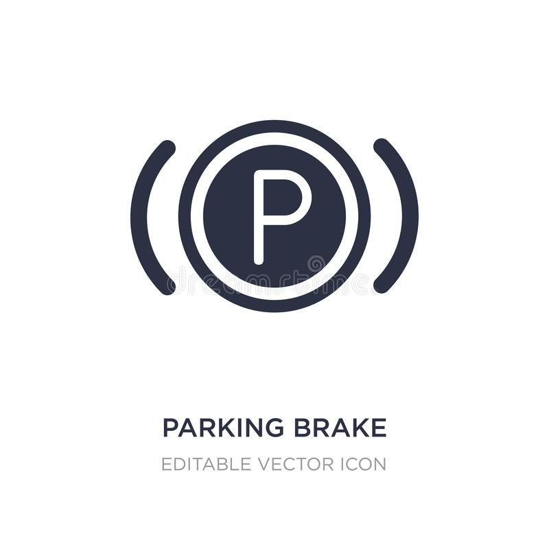 Parking brake icon on white background. Simple element illustration from Signaling concept. Parking brake icon symbol design vector illustration