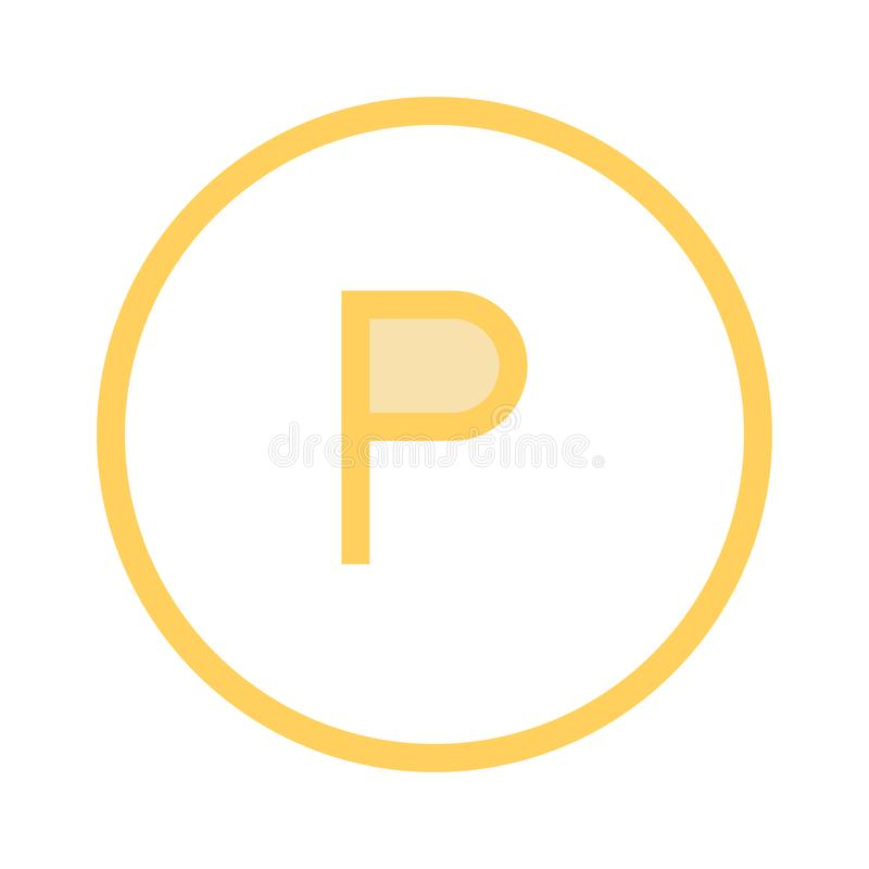 Parking color line icon royalty free illustration
