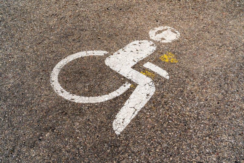 Parking d'handicap photographie stock libre de droits
