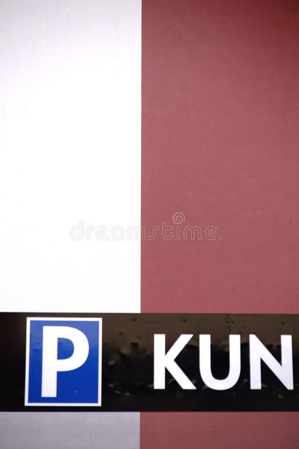 Parking de clients image libre de droits