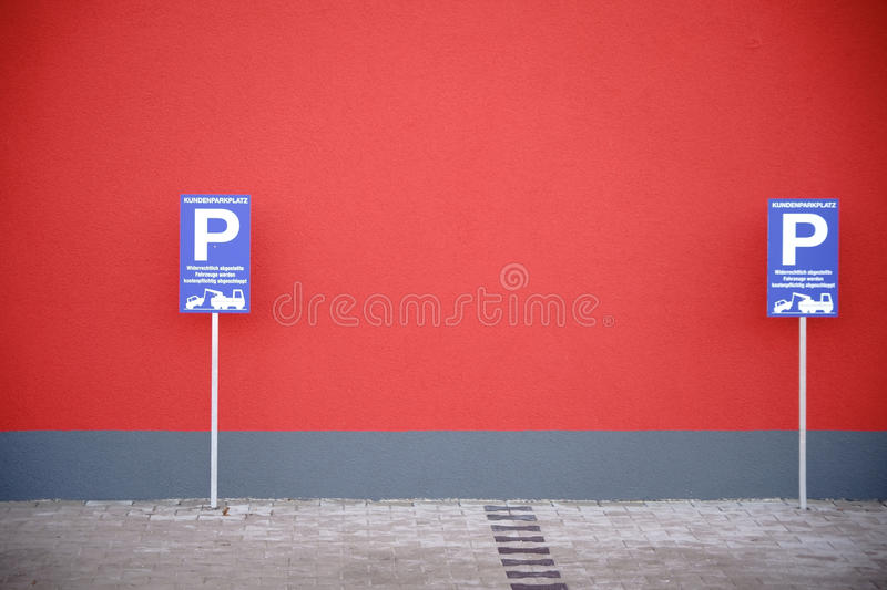 Parking de clients photos stock