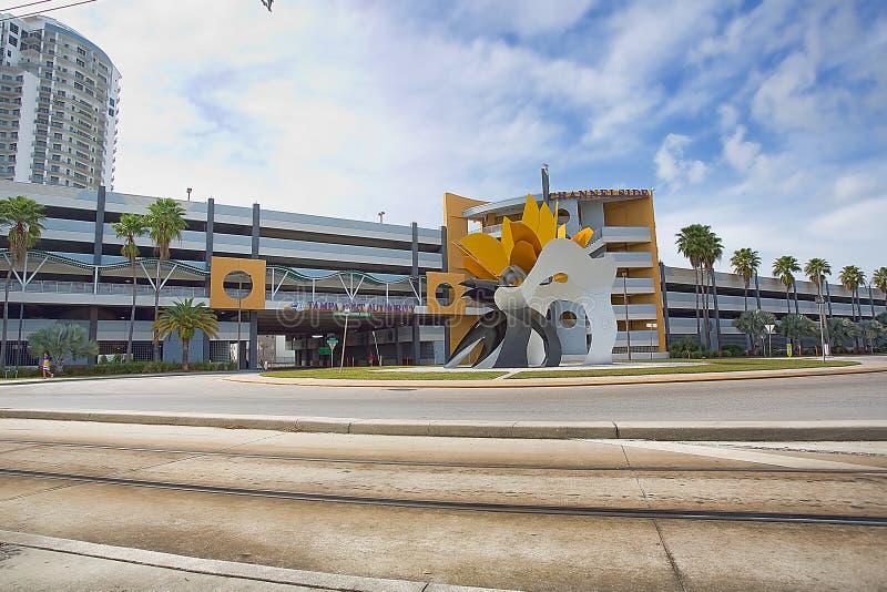 Parking de Tampa Port Authority imagen de archivo
