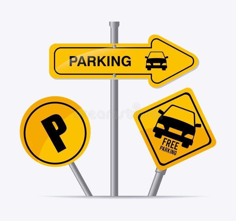 Parking design. royalty free illustration