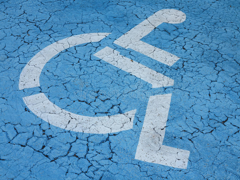 Parking for disabled stock image