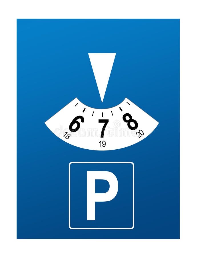 Parking disk vector illustration