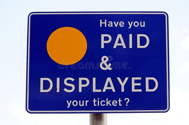 Parking display sign. royalty free stock images