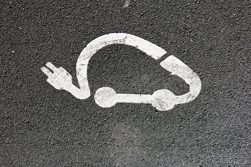 Parking for electric car royalty free stock images