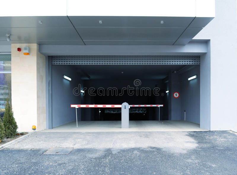 Download Parking entrance stock photo. Image of drive, industry - 13152576