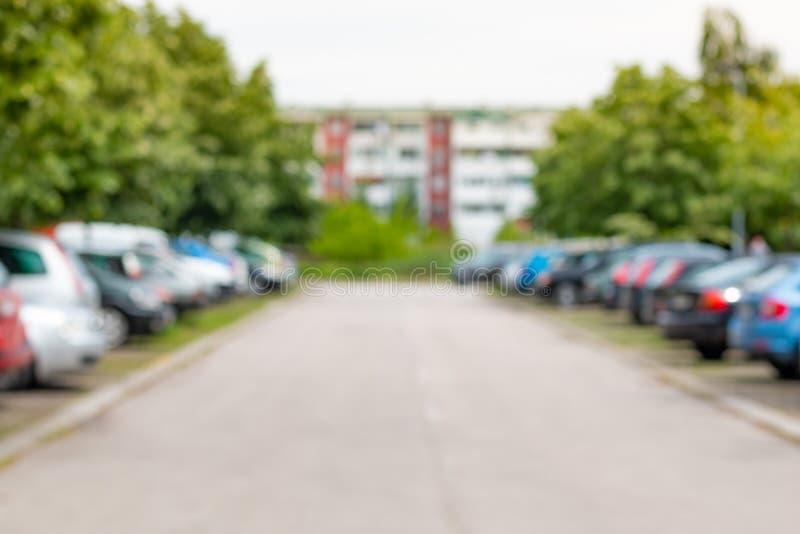 Parking ext?rieur images libres de droits