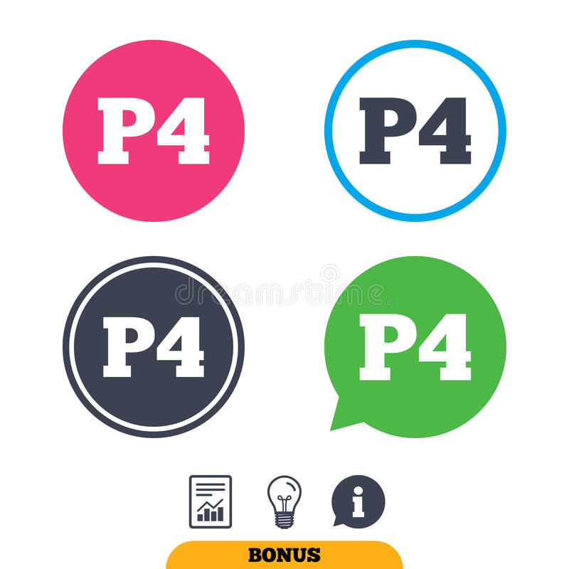 Download Parking Fourth Floor Icon. Car Parking P4 Symbol. Stock Vector    Image: