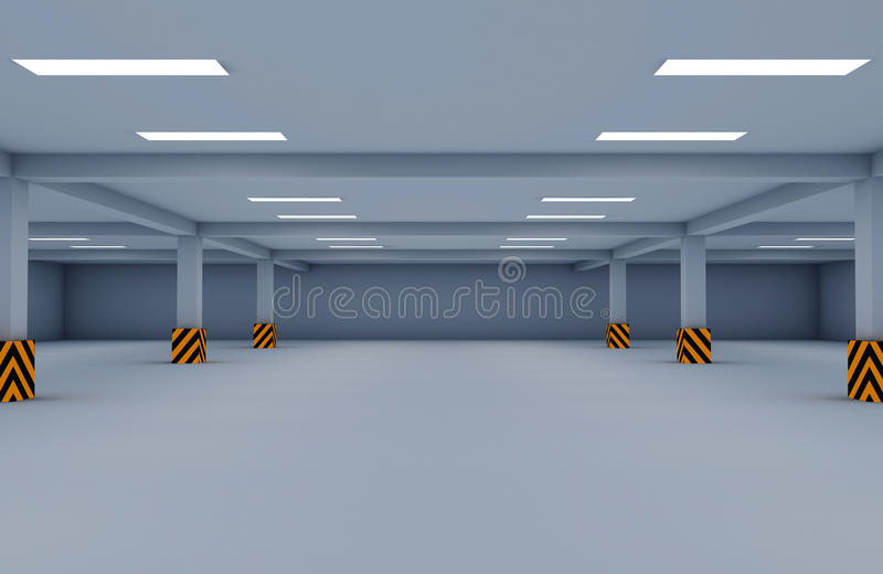 Parking garage royalty free stock photography