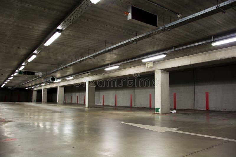 Parking garage empty stock image