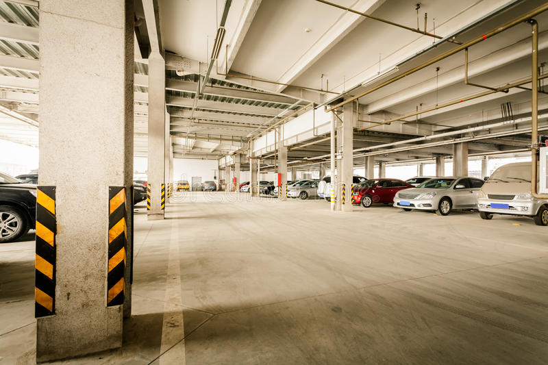 Download Parking garage stock image. Image of group, column, fluorescent - 31739551