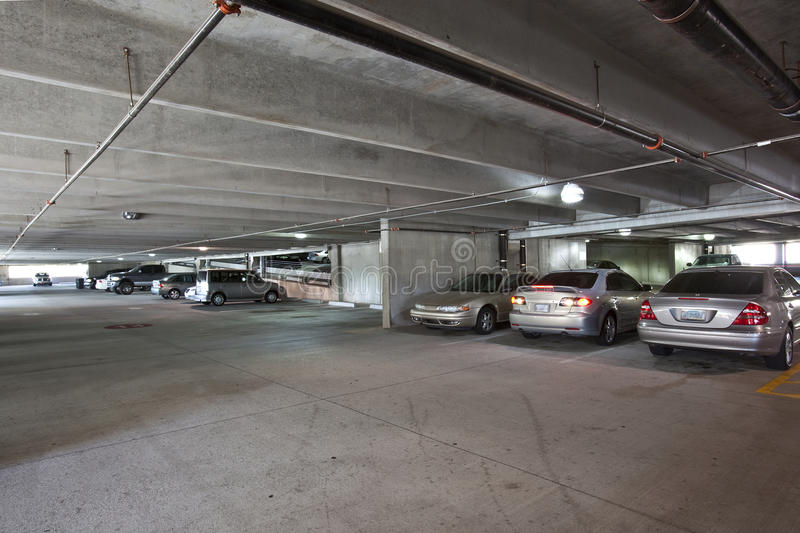 Parking Garage Interior Stock Image