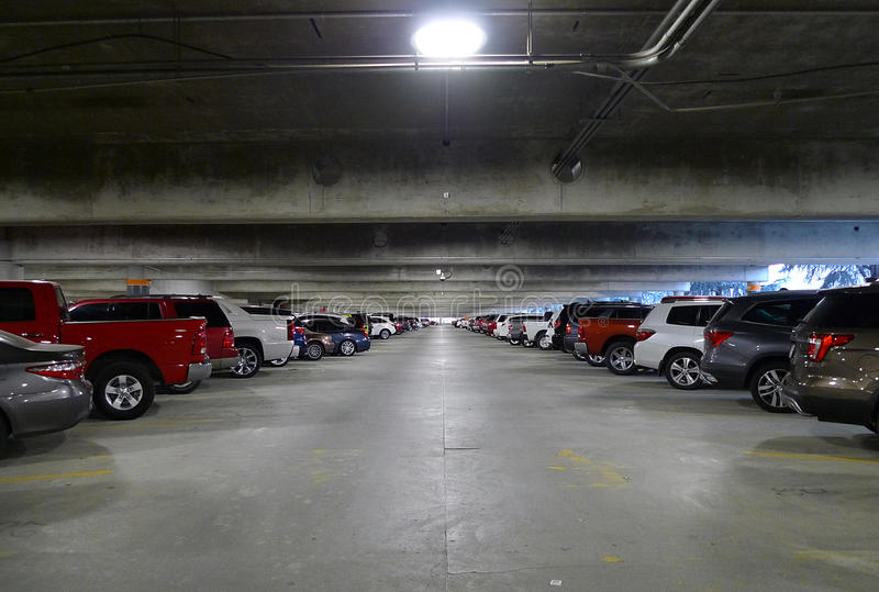 Parking Garage, Tulsa International Airport royalty free stock images
