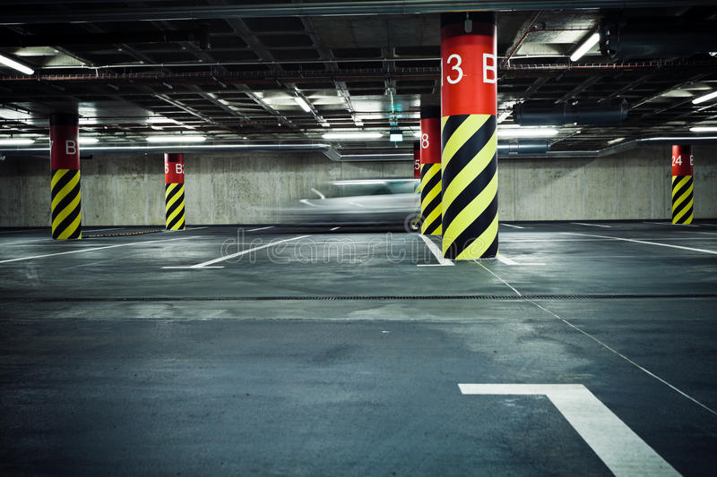 Download Parking Garage Underground, Blurred Stock Photo - Image: 25495864