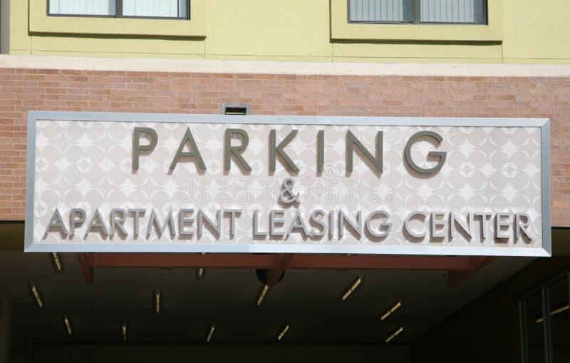 Parking i mieszkanie leasingu centrum fotografia stock