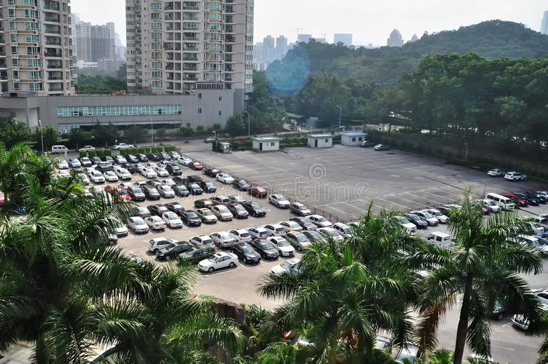 Download Parking lot editorial stock image. Image of diversification - 21937439
