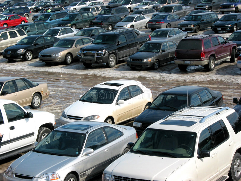 Parking lot royalty free stock photography