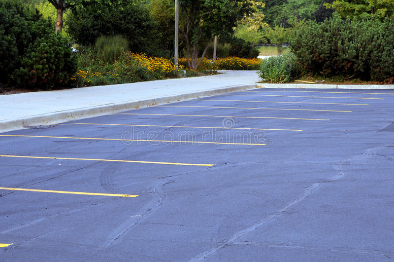 Parking lot. In early morning royalty free stock photography