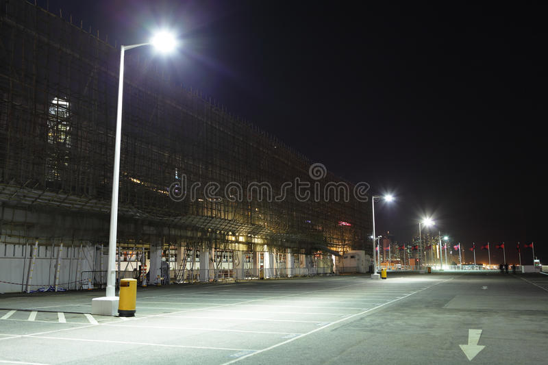 Parking lot at outdoor stock image