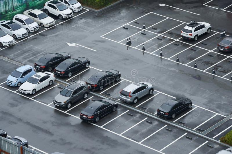 Parking lot stock image