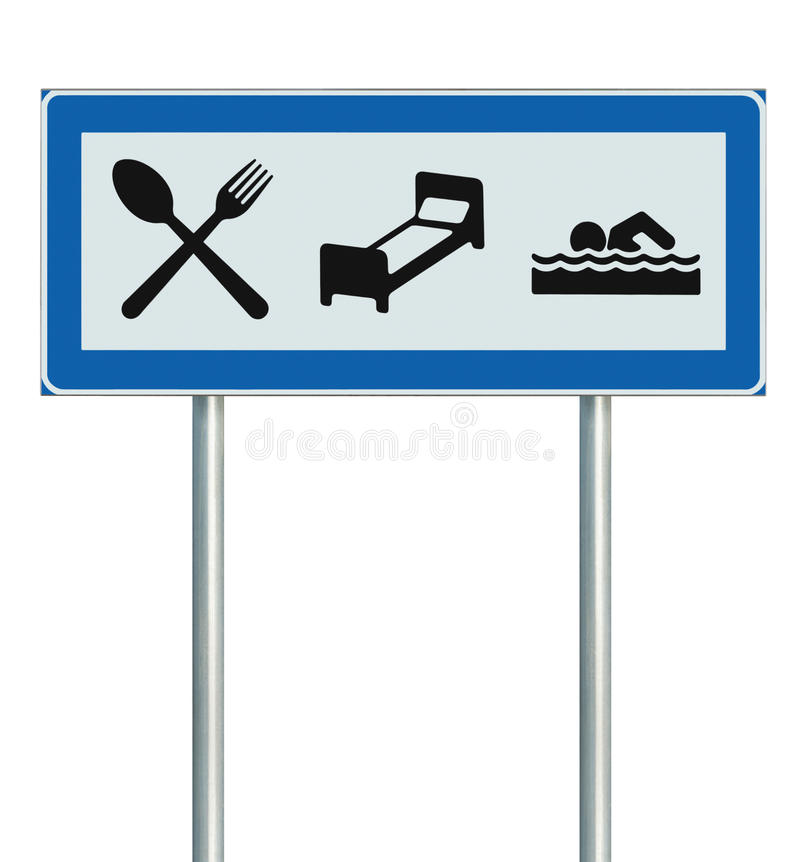 Download Parking Lot Road Sign Isolated Restaurant Hotel Stock Illustration - Illustration: 25918403