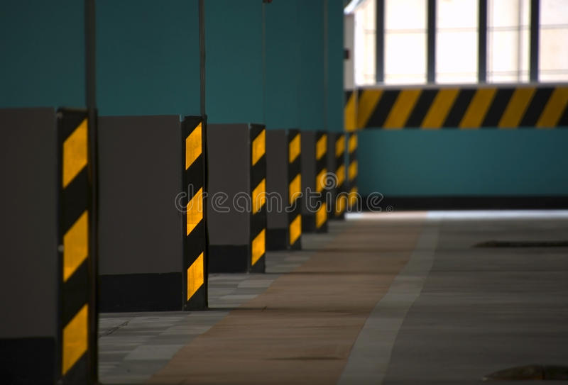The parking lot's interior stock image