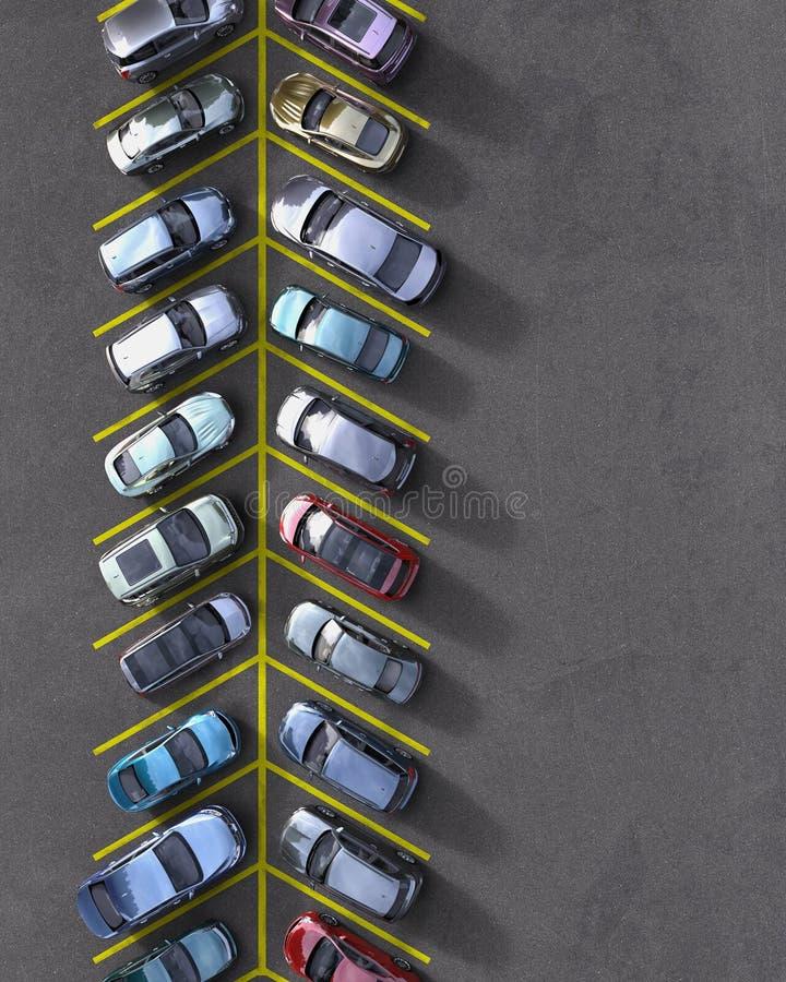 Parking lot royalty free illustration