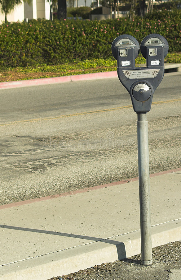 Parking Meter Offset royalty free stock photography
