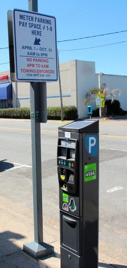 Parking metr, Virginia plaża Virginia zdjęcie royalty free