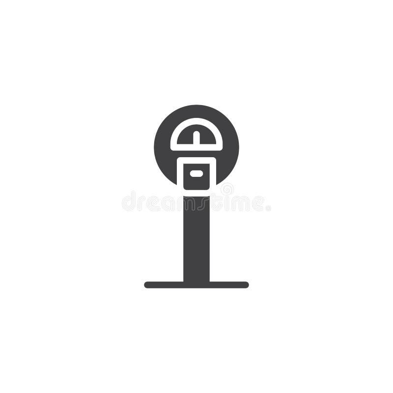Download Parking metru ikona ilustracja wektor. Ilustracja złożonej z glif - 106919605