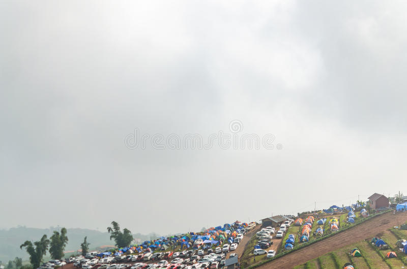 Parking namiot na Phu Thap Boek obraz stock