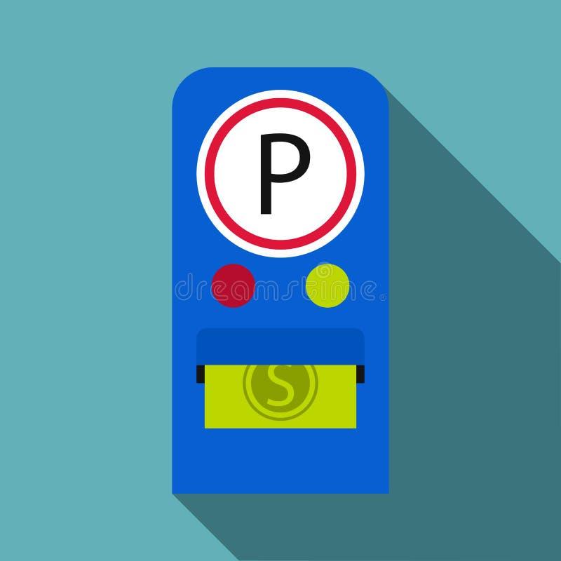 Parking opłat ikona, mieszkanie styl ilustracja wektor
