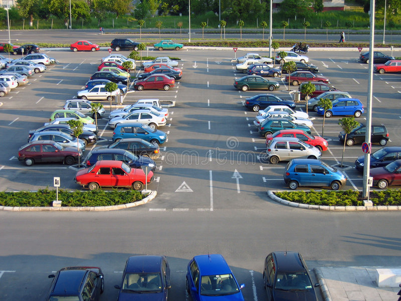 parking partii zdjęcia royalty free