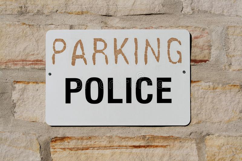 Download Parking for Police Sign stock photo. Image of outside - 25875942