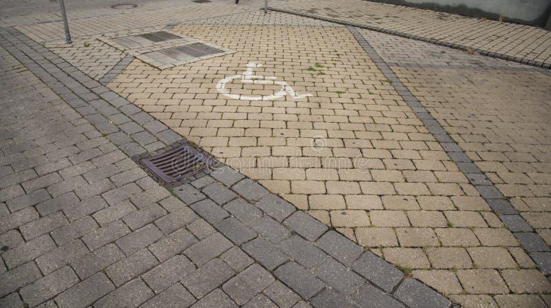 Parking pour des handicapés Concept d'handicap seulement photo libre de droits