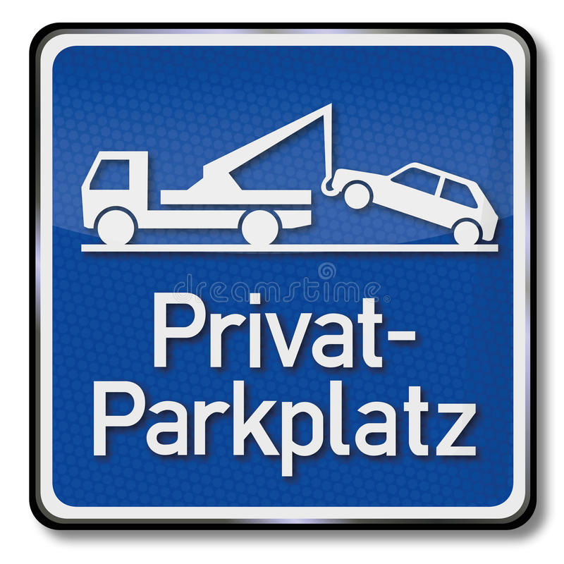 Parking privé illustration stock