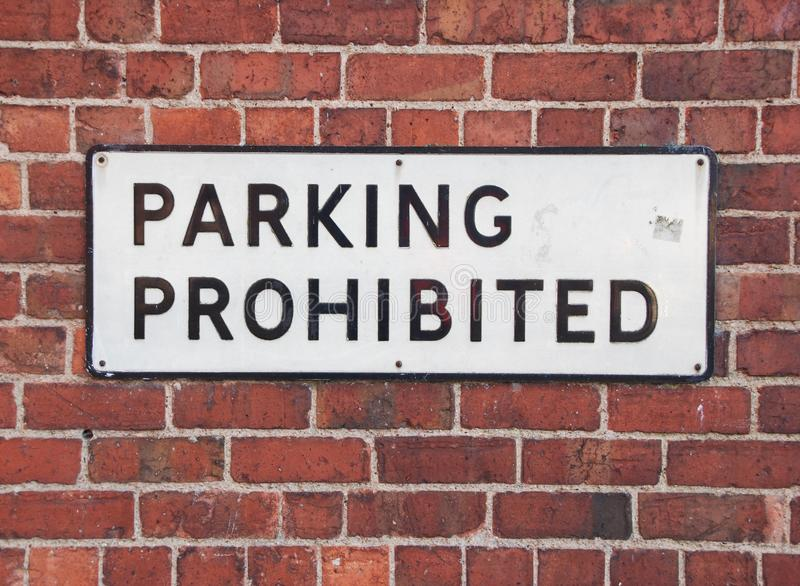 Download Parking prohibited sign stock photo. Image of pattern - 14856534