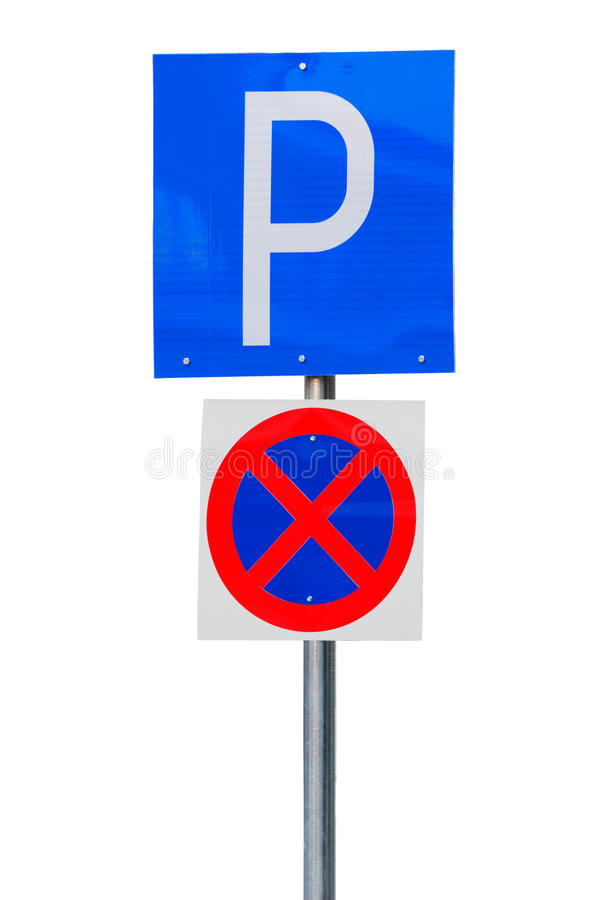 Download Parking road sign stock image. Image of prohibited, parking - 36988369