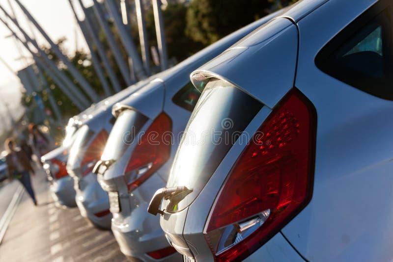 Parking samochody zdjęcie royalty free