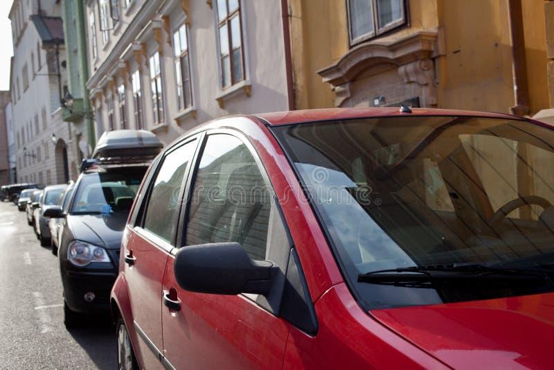 Parking samochody obraz royalty free