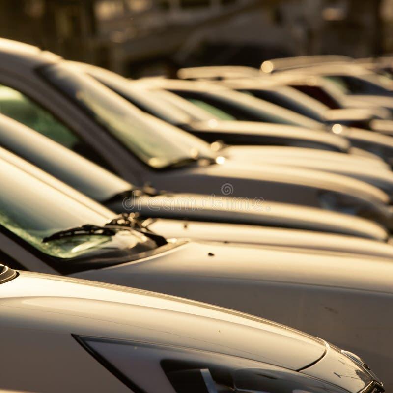Parking samochody zdjęcie stock