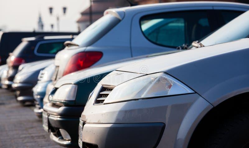 Parking samochody fotografia stock