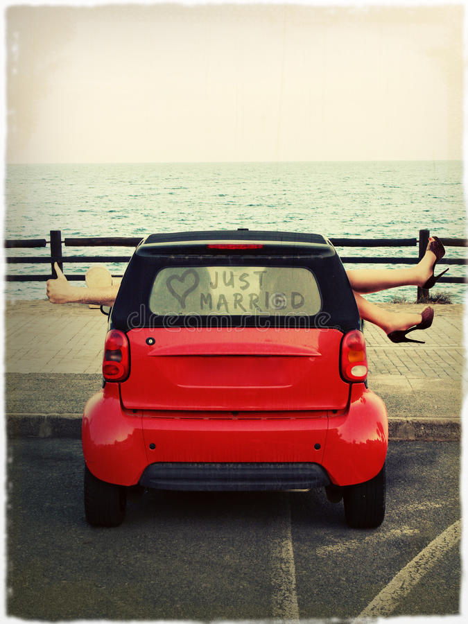 Download Parking by the Sea stock photo. Image of automobile, honeymoon - 27791648