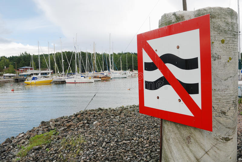 Download Parking sign at the harbor stock image. Image of destinations - 21150753