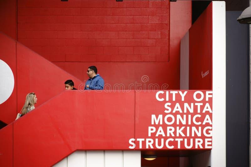 Parking Snata Monica fotografia stock