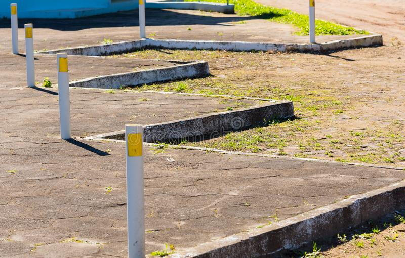 School parking spaces royalty free stock photography