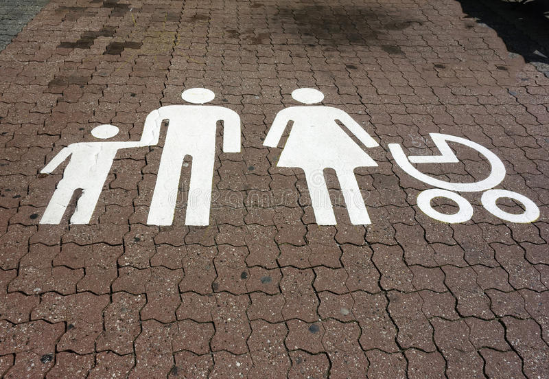 Download Parking Spot For Families Royalty Free Stock Photos - Image: 26239608